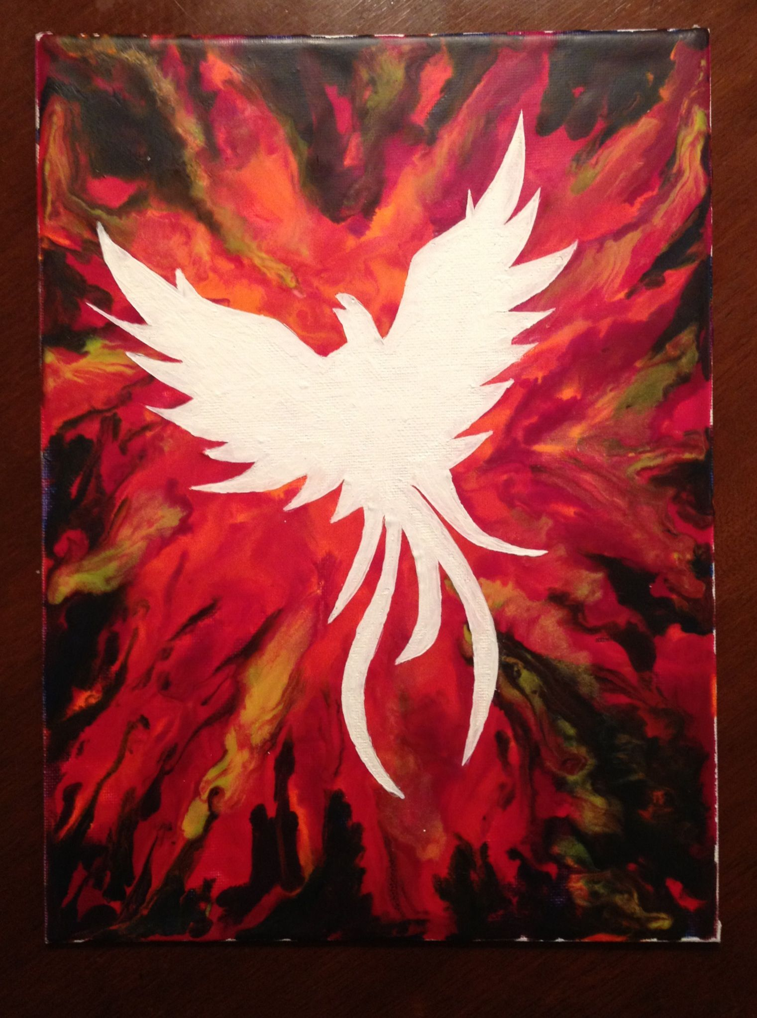 Phoenix Melted Crayon Art Wax Art Crayon Art