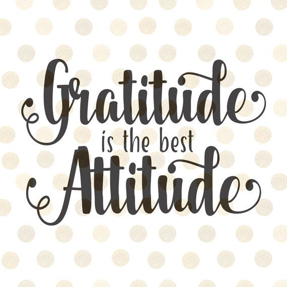 Gratitude is The Best Attitude Svg, Thanksgiving Svg, Fall ...