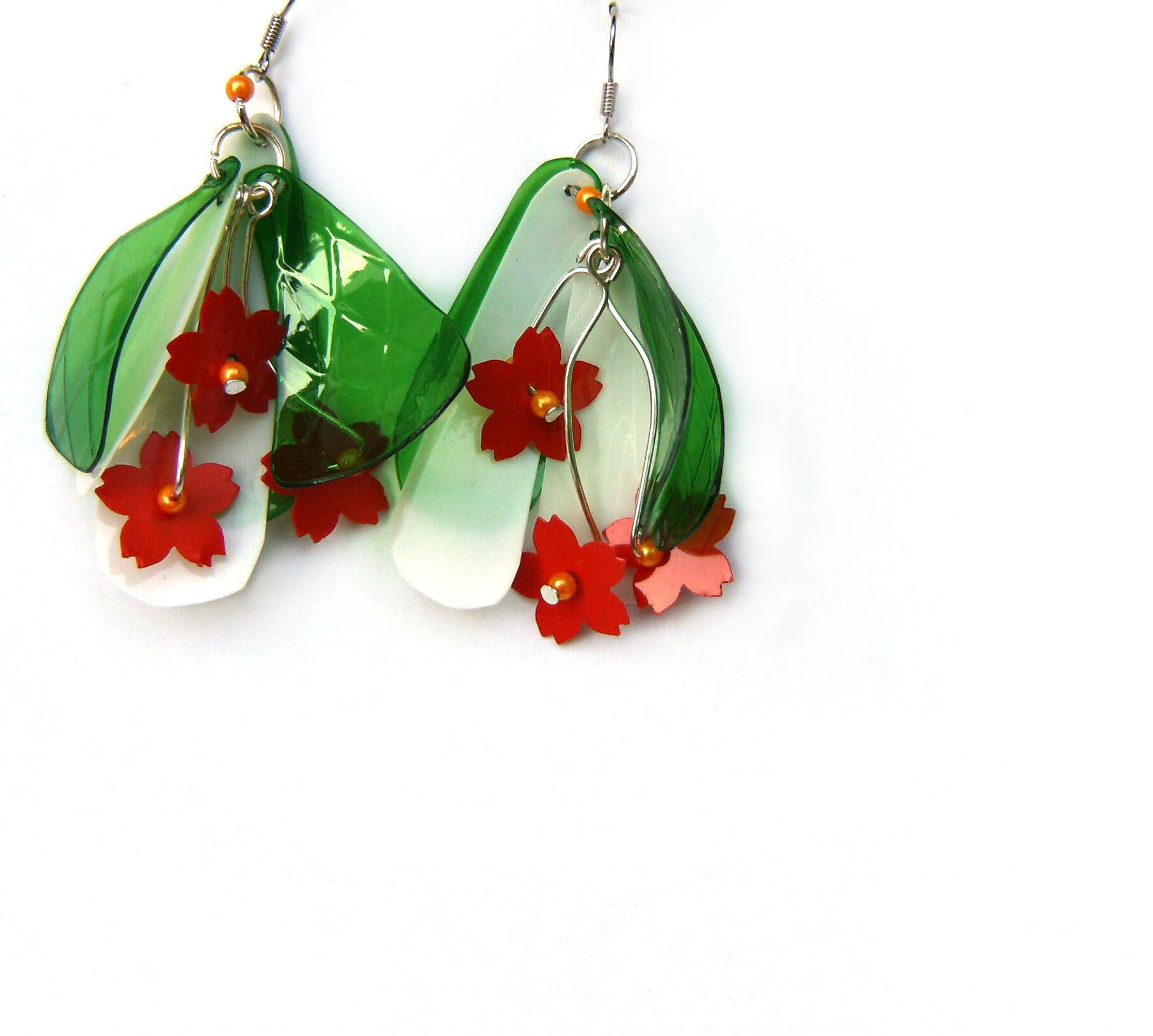 Blumen Aus Plastik Recycled Earrings Made From Pet Bottles And A Plastic