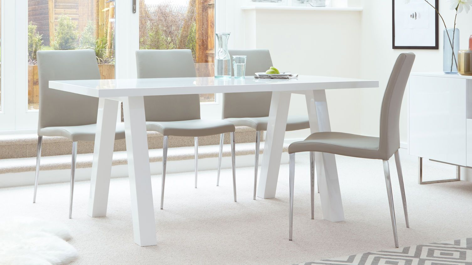 House Of Fraser Dining Room Furniture Captivating 4 Seater Grey Gloss Dining Table  Loungeliving Room  Pinterest Inspiration