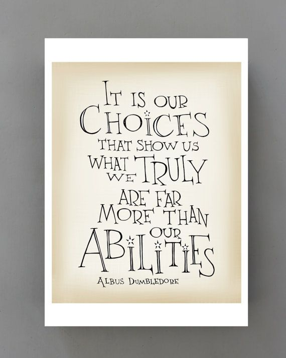 Harry Potter Quote Poster Albus Dumbledore Quote It Is