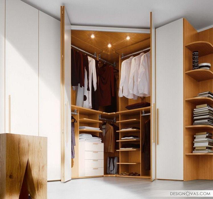 Угловые шкафы в комнату - 28 современных фото идей ...