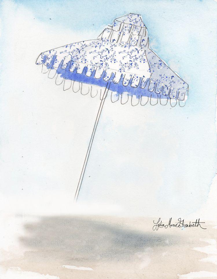 Design Crush Tuesday: Toile About it on beach umbrellas! — Lydia Marie Elizabeth