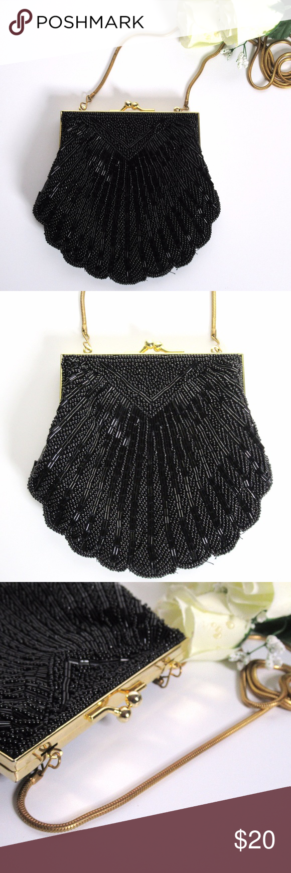 Carla Marchi Beaded Bag With Chain Strap Beautiful Purse Looks Like It Has Never Been Used You Can Use As A Shoulder Or Clutch By Tucking In The