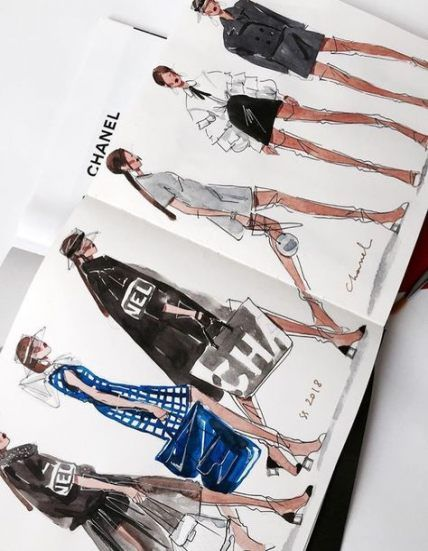 Photo of New Fashion Illustration Sketches Ideas Sketchbooks Ideas