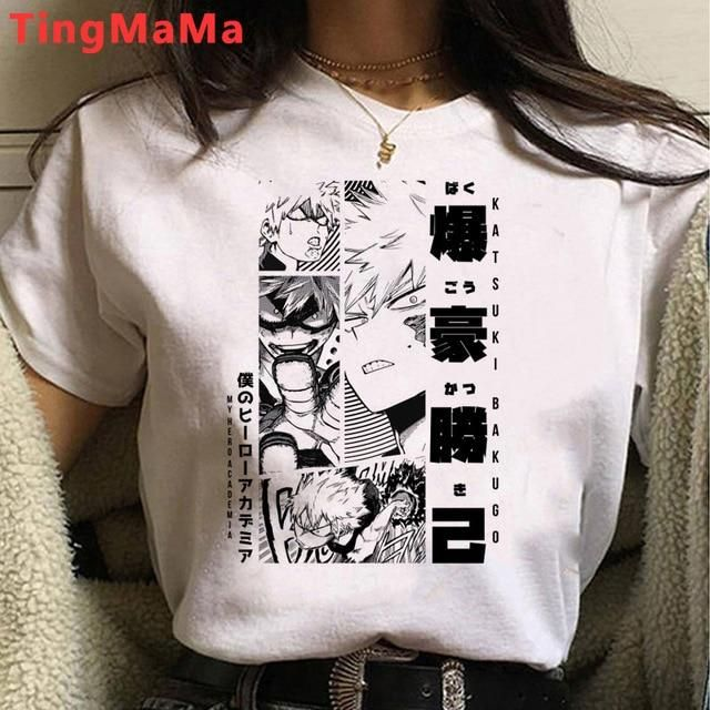 Photo of My Hero Academia T Shirt Women Kawaii Cartoon Himiko Toga Graphic Tees Funny Anime Boku No Hero Academia T-shirt Unisex Female – 25588 / XXS