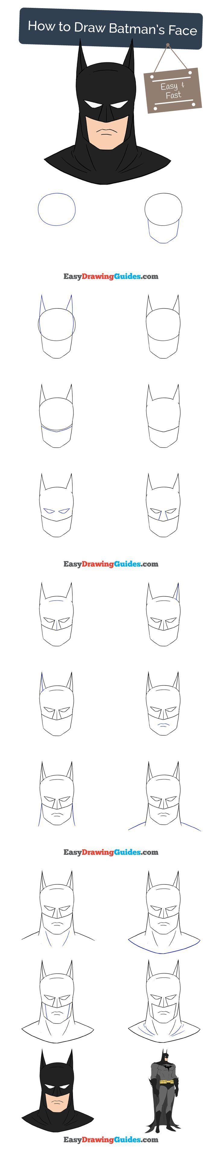 learn how to draw with easy step by step guides batman drawing