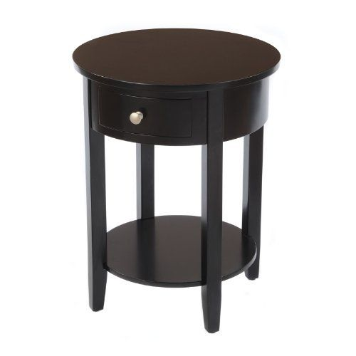 Living Room Side Table, Small Round Side Table With Drawer