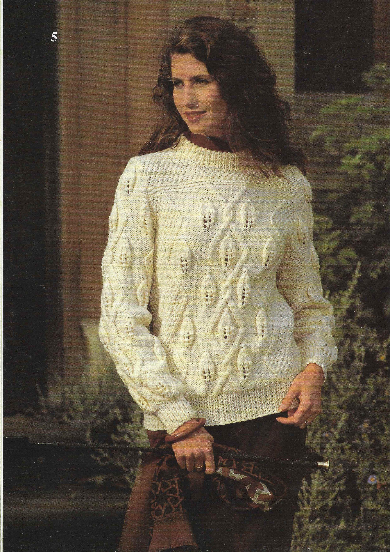 5d00b4be3bf8a3 8 X Aran Cardigan Aran Sweaters Knitting Pattern Ladies Men Child Jacket Aran  Jumper Family Wool