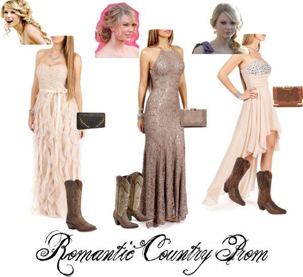 country prom dresses found on christigobluegirlpolyvore