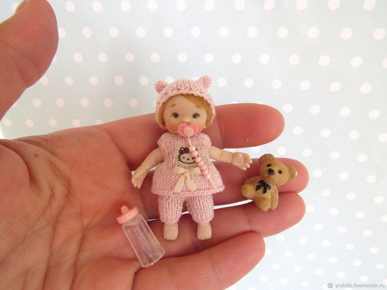 MOVABLE Miniature doll - girl. Dollhouse miniature 1:12 – купить на Ярмарке Мастеров – G6WR9COM | Кукольные домики, Dresden