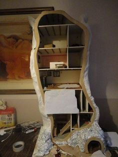 how i made the miniature mouse tree house small stuff pinterest puppen puppenstube und fee. Black Bedroom Furniture Sets. Home Design Ideas