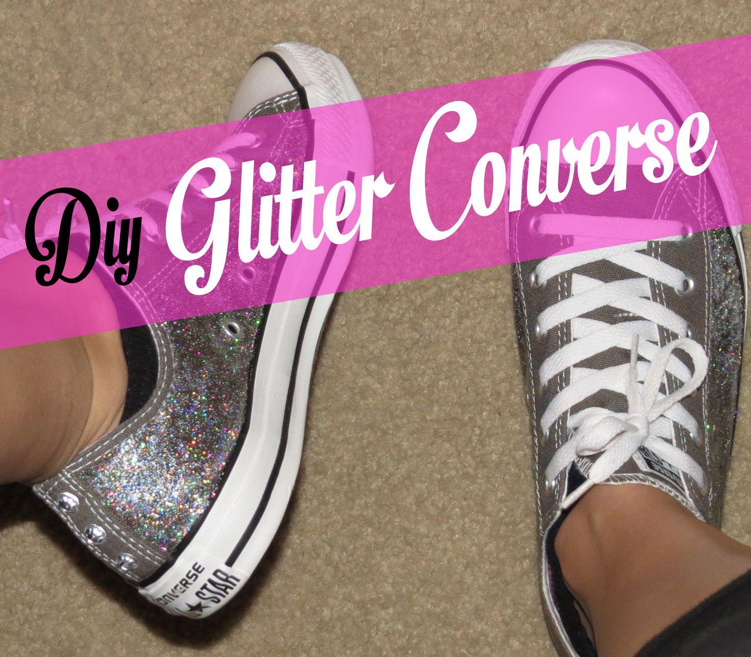 Diy Glitter Converse 2 Glitter Converse Glitter Diy Upcycle