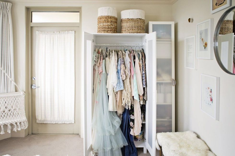 14 Ingenious Storage Tricks For A Small Bedroom With No Closets Small Closet Space Small Bedroom Storage Closet Designs