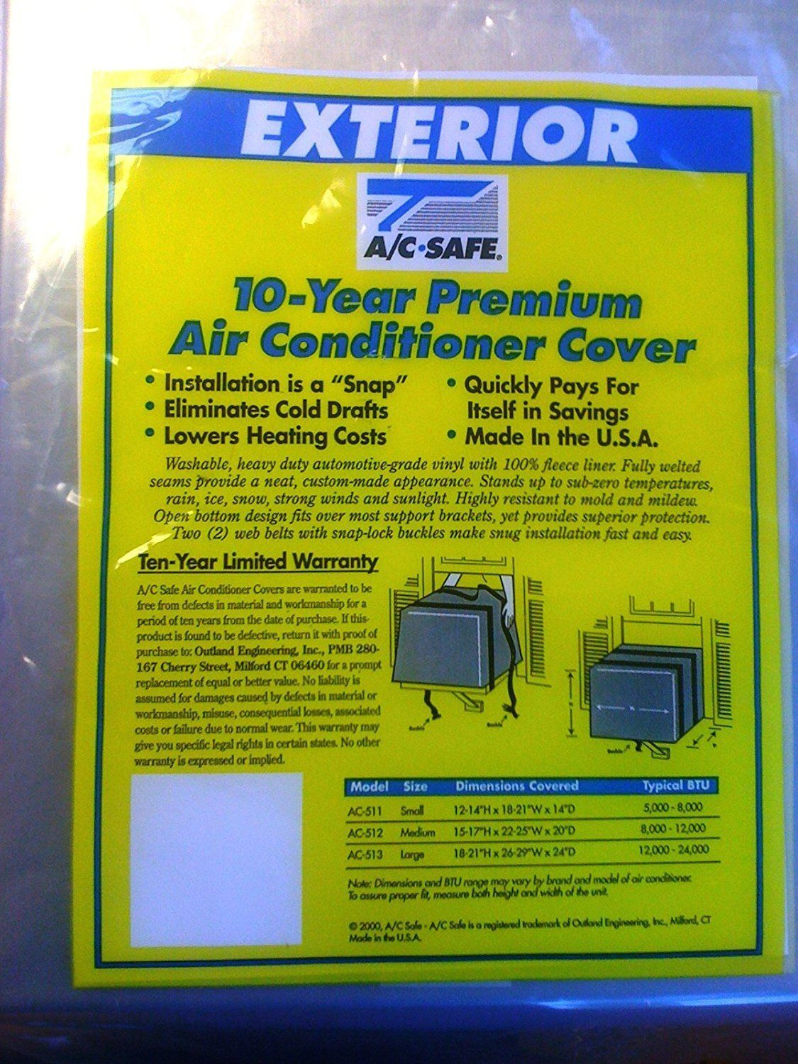 AIR CONDITIONING WINDOW UNIT LARGE EXTERIOR COVER >>> Much