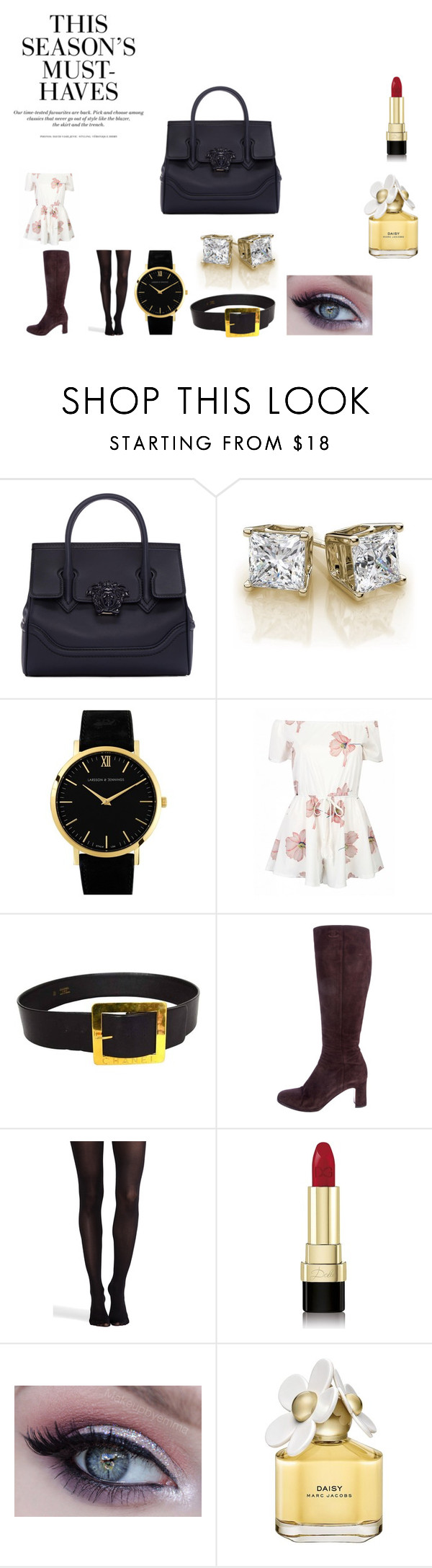 """""""28-versace"""" by chrisone ❤ liked on Polyvore featuring Versace, Larsson & Jennings, Chanel, SPANX, Dolce&Gabbana, Marc Jacobs and H&M"""