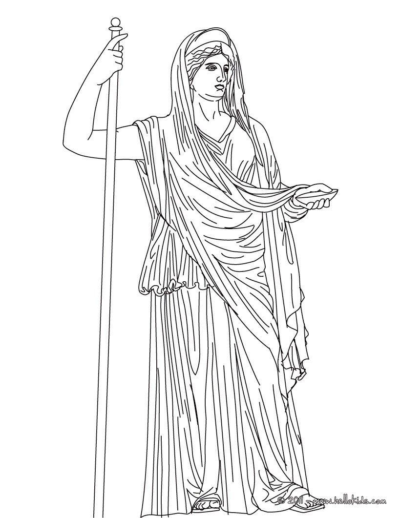 Greek Goddesses Coloring Pages Hera The Greek Matron Goddess Hera Greek Goddess Coloring Pages Greek Gods