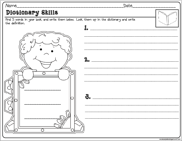 Freebie 50 Reading Prehension Activity Dictionary