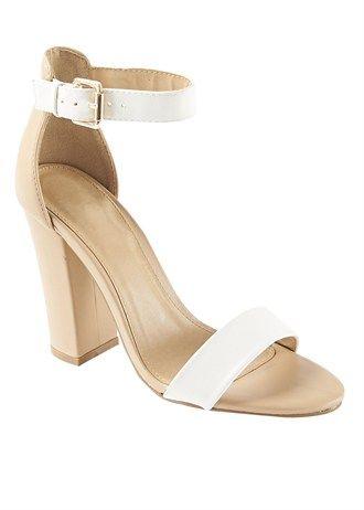 746e003e691f Contrast Block Heel Sandals