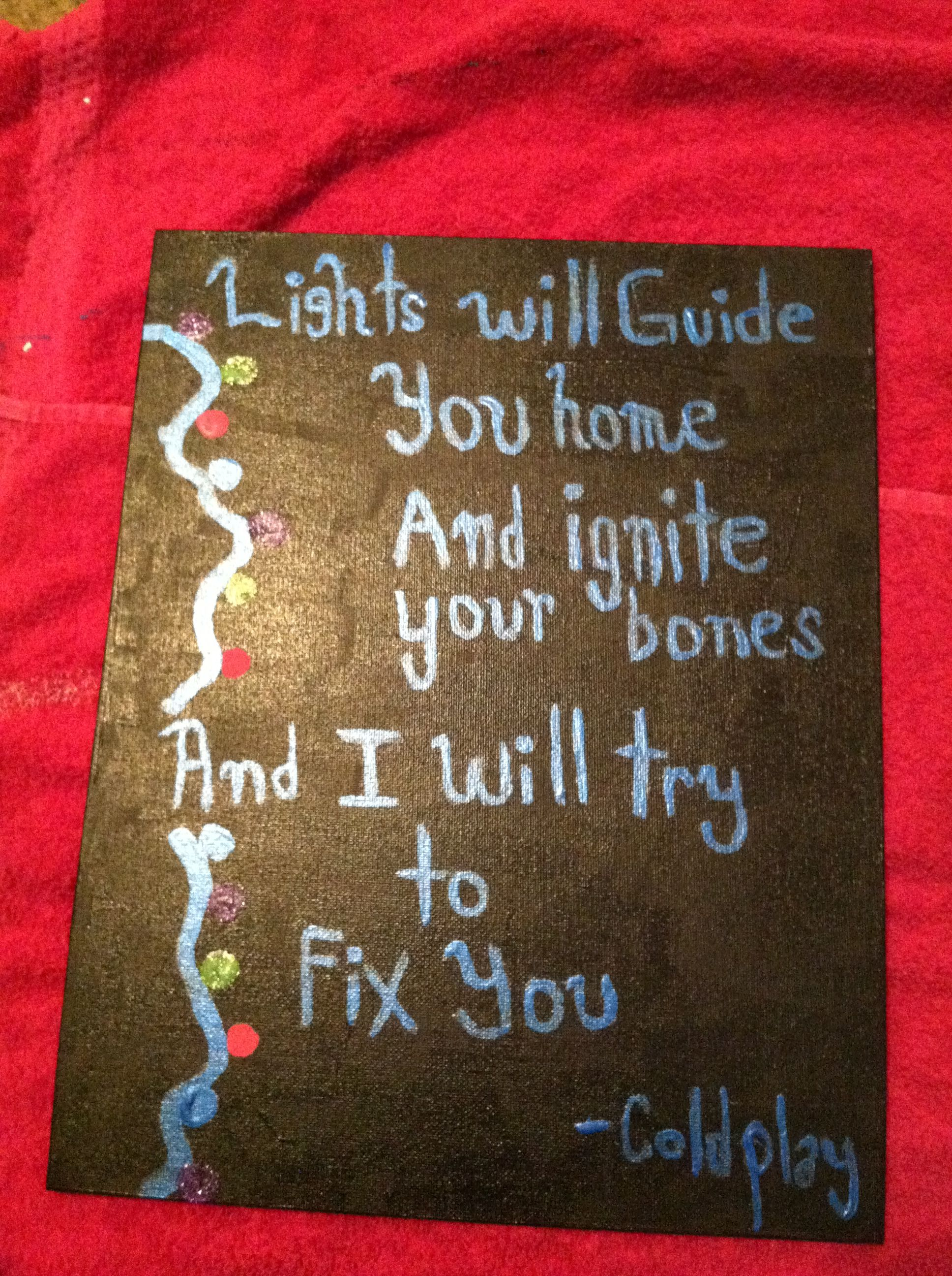 Fix You Lyrics Canvas Fix You Lyrics Fix You Coldplay Fix You