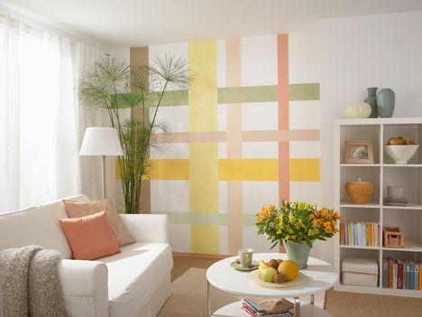 flechtwerk-wand | klitzekleines meins | pinterest | wandgestaltung ... - Wandgestaltung Streifen Ideen