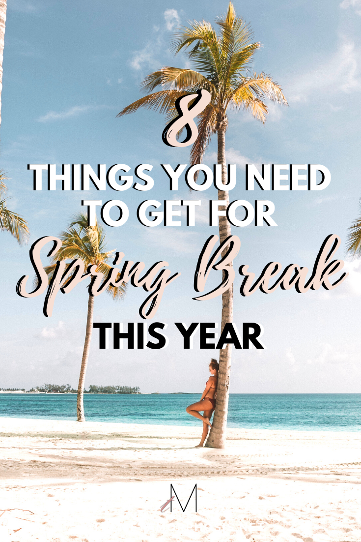 8 Things You NEED on Your Spring Break Packing List #collegepackinglist You absolutely NEED these 8 things on your spring break packing list! You'll regret it if you don't! #springbreak #college #collegepackinglist