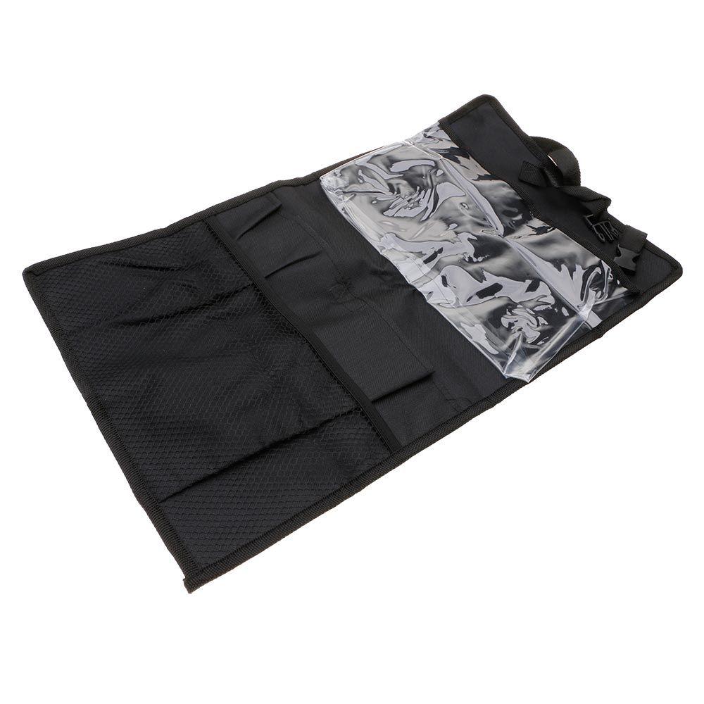 Portable durable car seat back hanging bag ipad holder storage bag