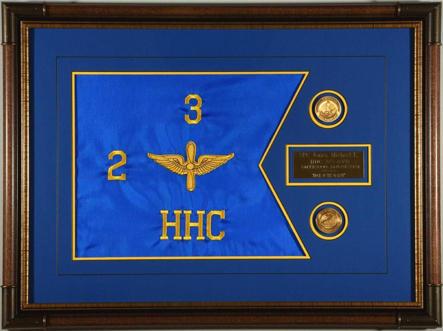 Aviation Guidon With Coins Military Farewell Gift Ideas