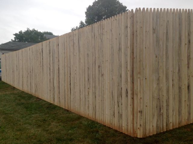 Spruce Wood Stockade Privacy Fence Wood Fence Wood Fence Styles