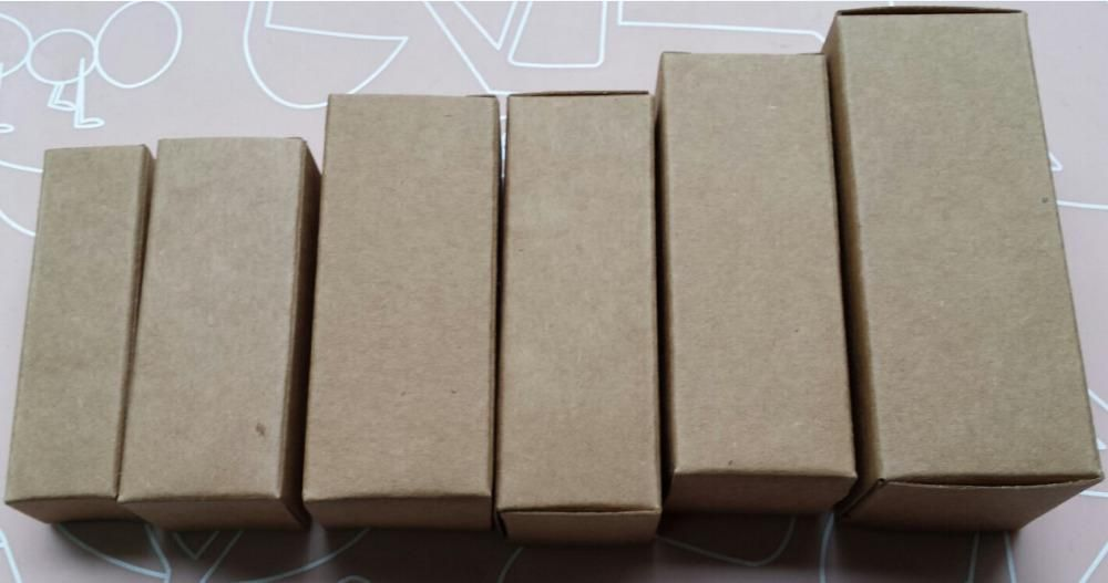10ml Perfume Bottles Kraft Box For Packaging Blank Kraft Bottle Packaging Boxes Size 2 8 2 8 7cm Cardboard Boxes Wholes Bottle Packaging Perfume Bottles Bottle