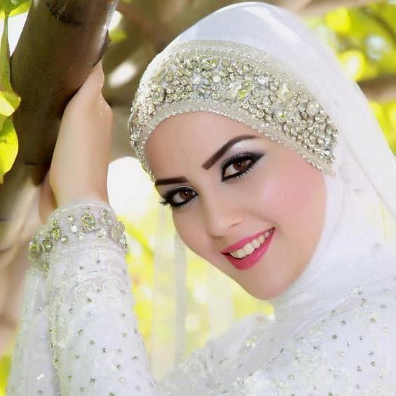 Arabic Makeup With Hijab Con Imagenes Novias Musulmanas Velos