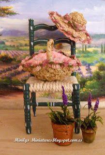 Minilys Miniatures: Summer in Provence  Miniatures 1:12. Dollhouse. Artisan Miniatures.