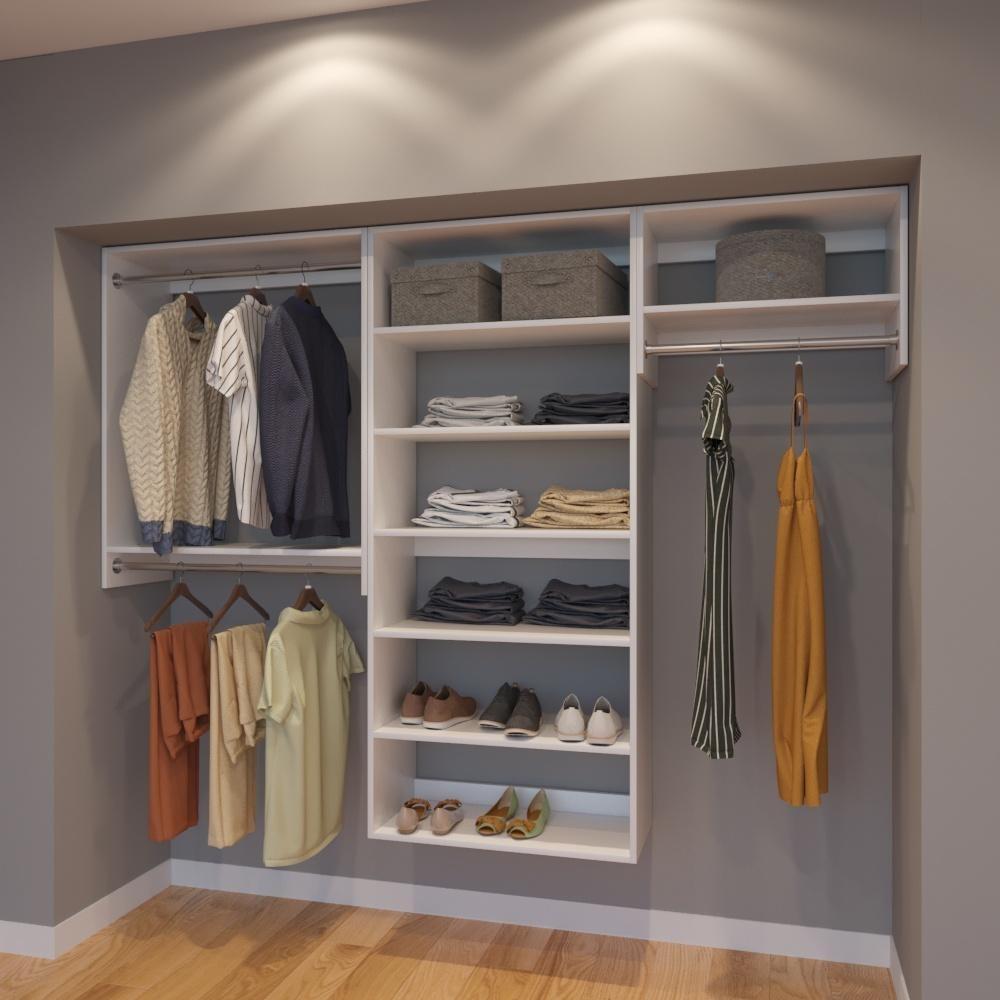 Vista 8 Ft Closet Organizer System 96 Inch Style C With
