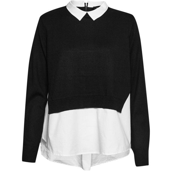 af7aeb340db25 French Connection Fresh Knits Shirt Jumper ( 115) ❤ liked on Polyvore  featuring tops
