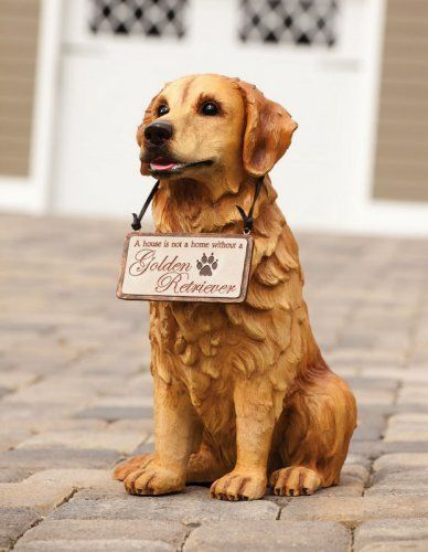 Golden Retriever Statuary By Outdoor Decor 89 99 Painted Resin A Sweet And Handsome