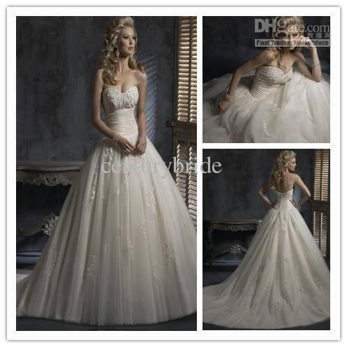 Wholesale 2012 New Arrival Modern Sweetheart Ball gown Floor length Wedding dress A217, Free shipping, $236.25-260.75/Piece | DHgate