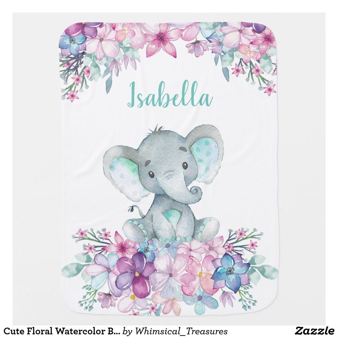 Cute Playful Baby Blanket 36 x 25 Safari Animal Baby Quilt