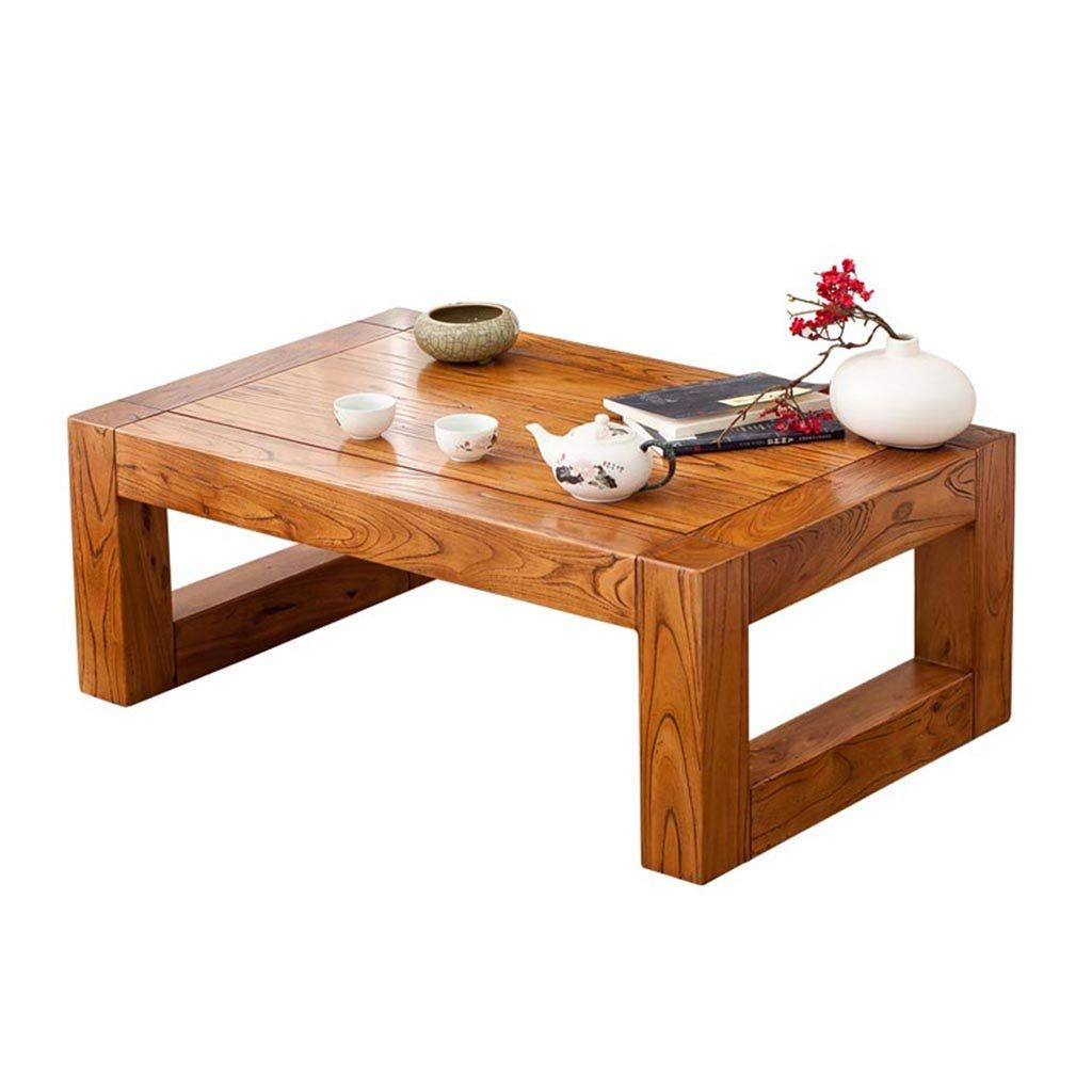 Home Warehouse Solid Wood Bay Window Table Japanese Style Living Room Decoration Side Table Side Table Decor Living Room Coffee Table Solid Wood Coffee Table [ 1024 x 1024 Pixel ]