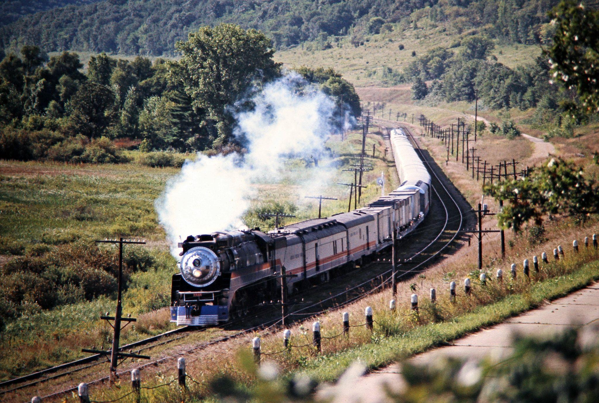 Westbound American Freedom Train On Milwaukee Road Track In Wabasha Minnesota On August 25 1975 Photograph By Milwaukee Road Railroad Photography Milwaukee