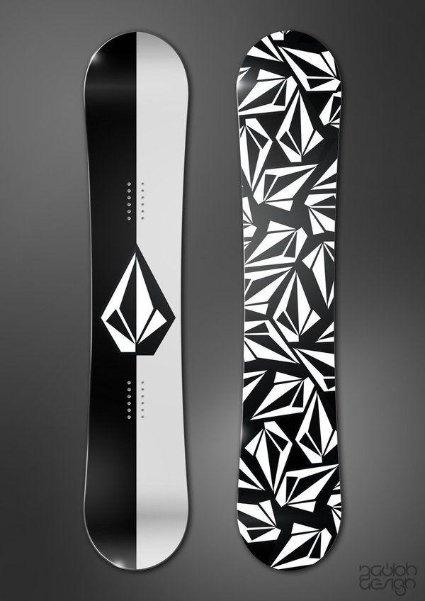 Snowboard Sticker Design 04 Shredding The Pow