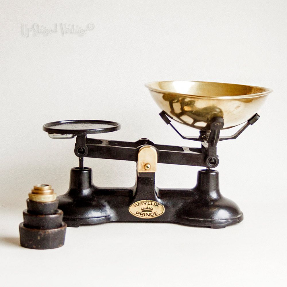 Vintage Black Weylux Cast Iron Kitchen Scales Imperial Weights Vintage Black Cast Iron Kitchen Scale