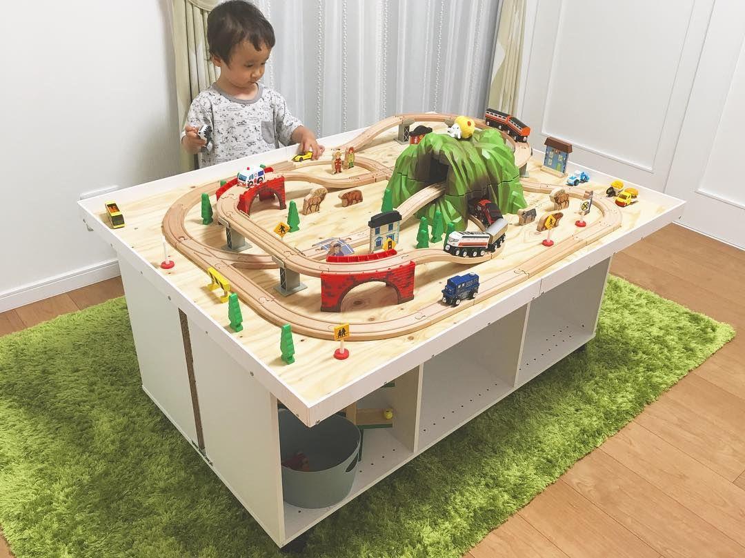 作ってみよう 子ども大喜びのプレイテーブル これなら私もできるかも Mamanoko ままのこ プレイテーブル 子供のプレイルーム トレインテーブル
