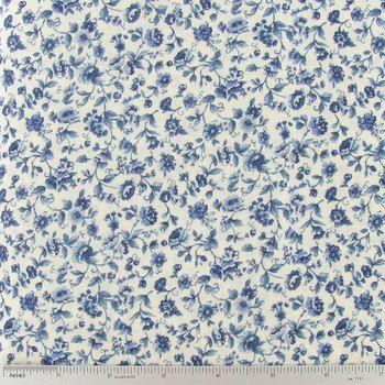 Blue Floral On Cream Cotton Calico Fabric Hobby Lobby 276535 Calico Fabric Calico Hobby Lobby Fabric