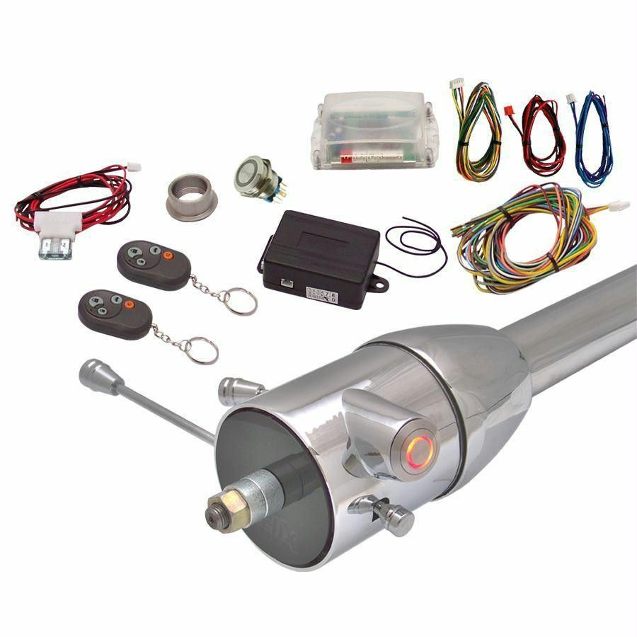 Red One Touch Engine Start Kit w Column Insert and Remote