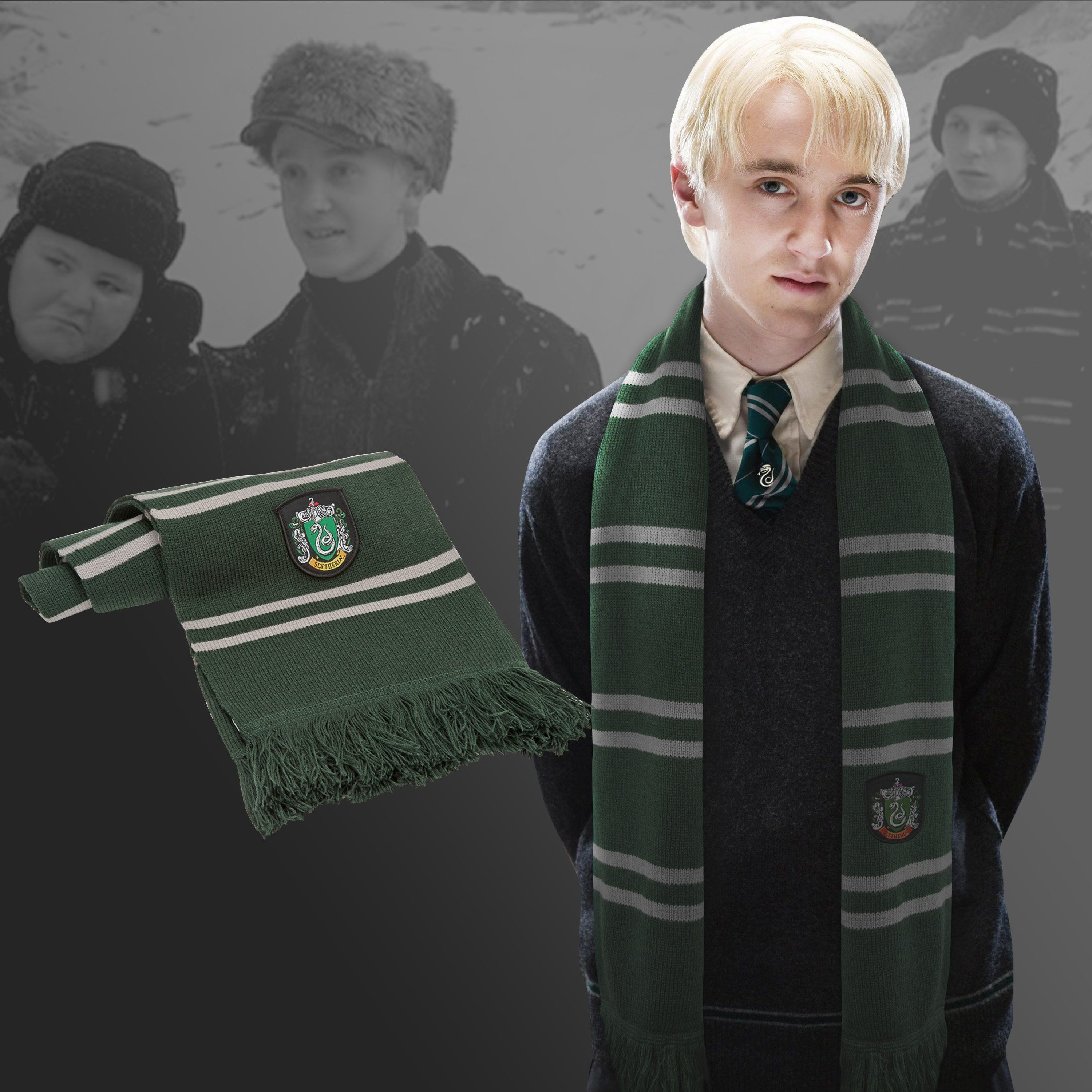 Deluxe Slytherin Scarf Harry Potter Costume Accessory One Size NEW