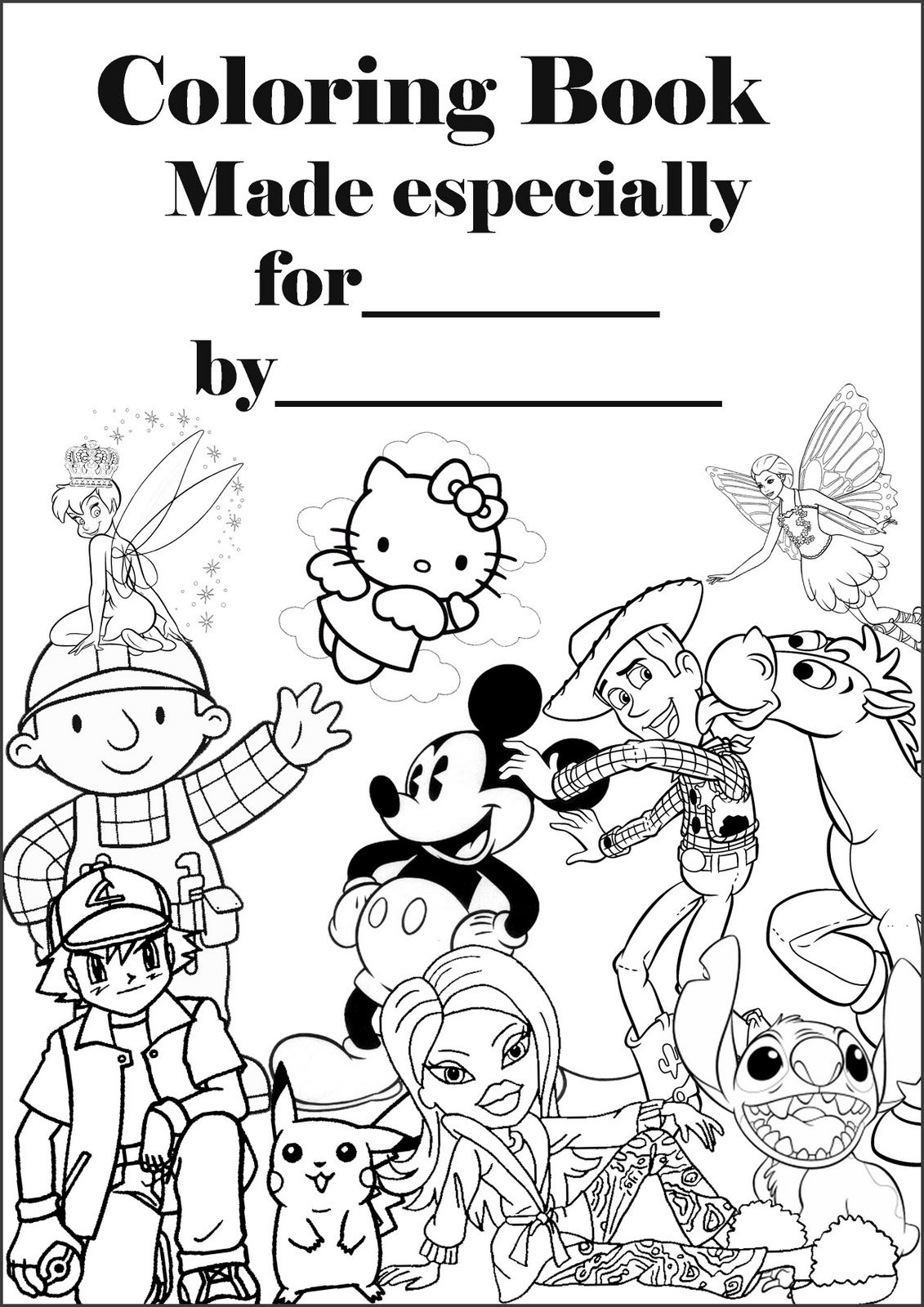 DISNEY COLORING PAGES: COLORING BOOK PERSONALISED COVER PAGE ...