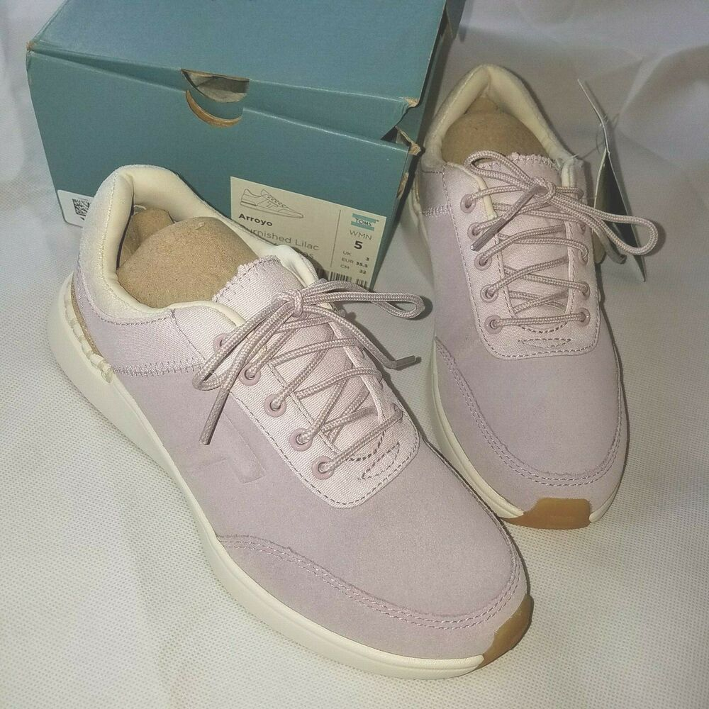 Toms Arroyo Burnished Lilac Suede  Canvas Womens Size 5 Sneakers Tennis Shoes Source by addigirlyq shoes outfit