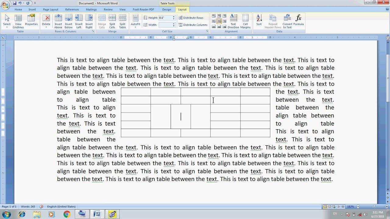 MS Word Part 16 Urdu Table Formatting | Learn Computer
