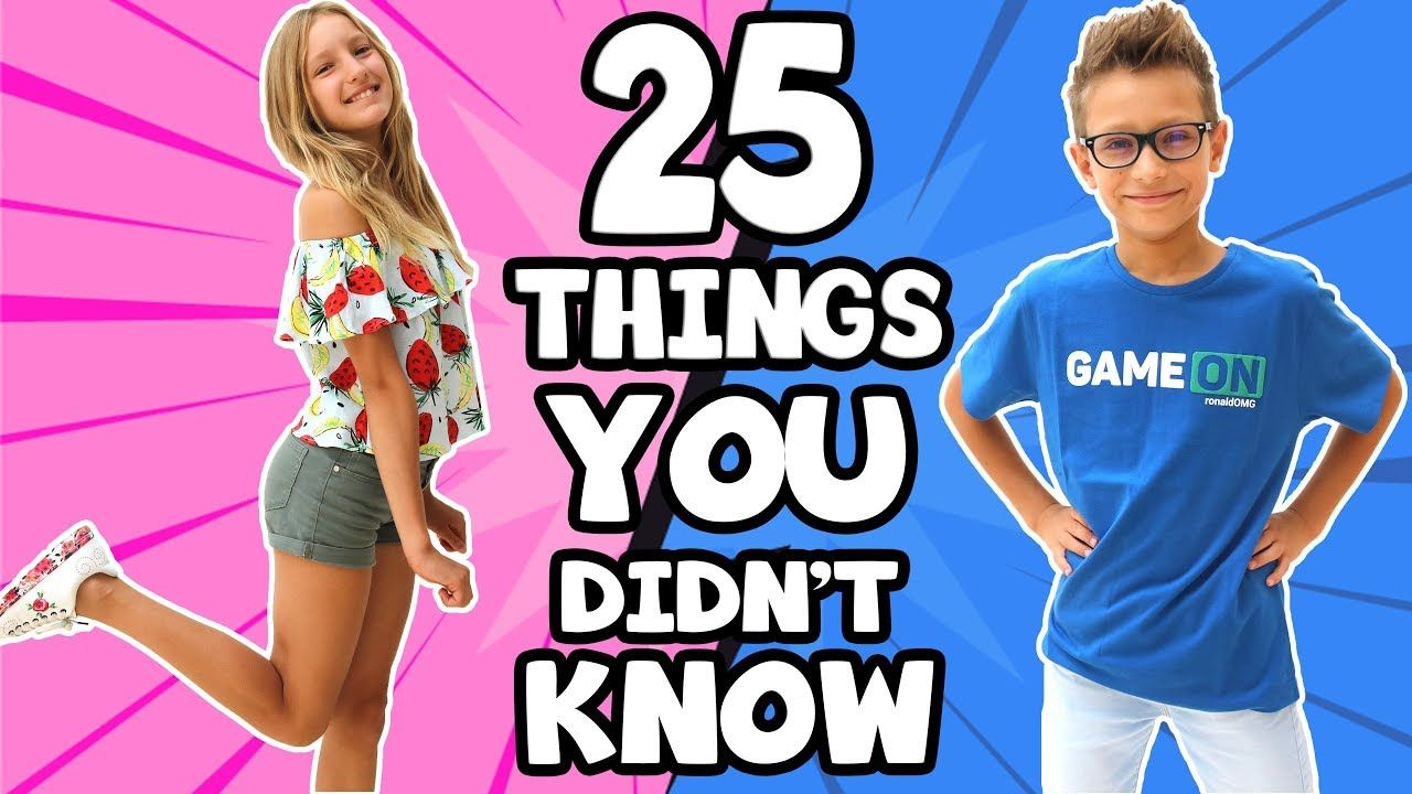 25 Things You Didn T Know About Sis Vs Bro Youtube Eh Bee Family Guess The Emoji Bro