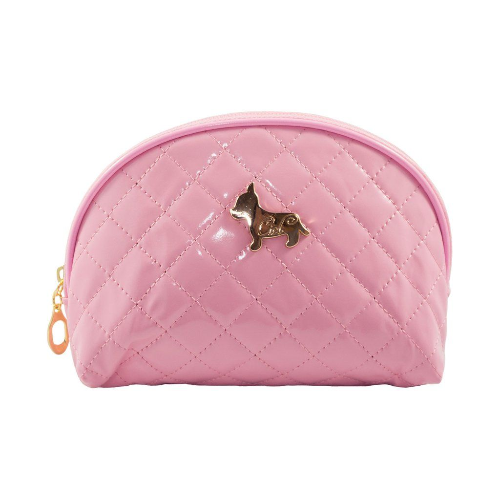 Shiny Half Moon Shape Cosmetic Pouch Bag